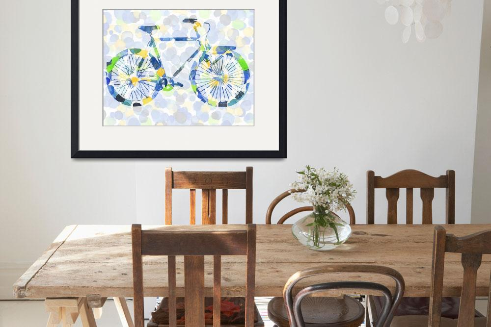 """Polka Dotted Bicycle for Baby Room&quot  (2017) by IrinaSztukowski"