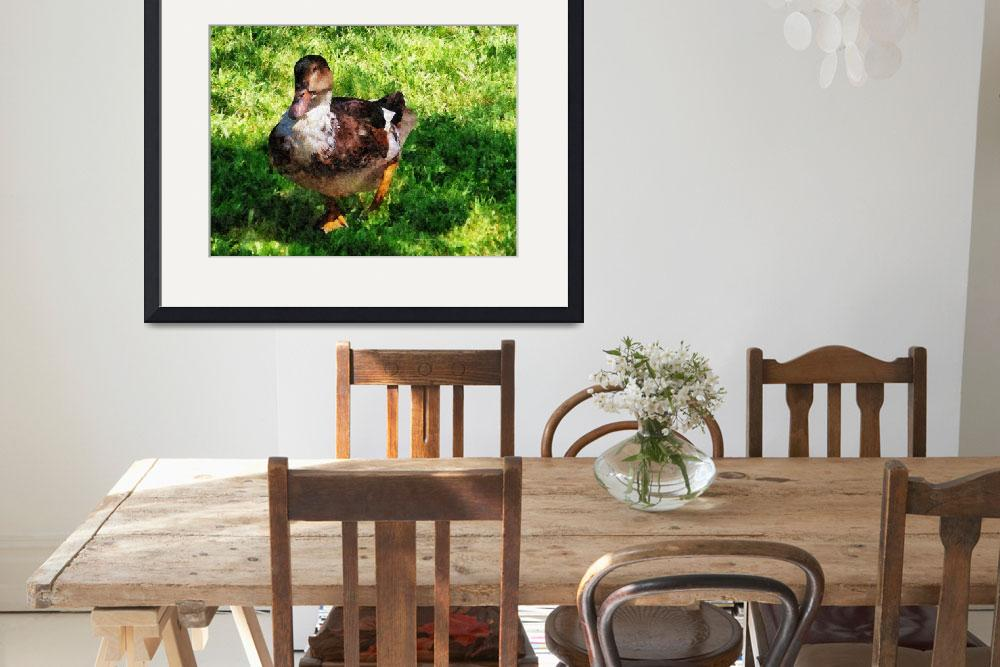 """""""Duck With Attitude&quot  by susansartgallery"""