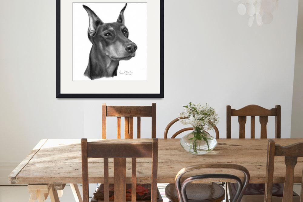 """""""Doberman Pinscher with Cropped Ears&quot  (2007) by sdonley"""