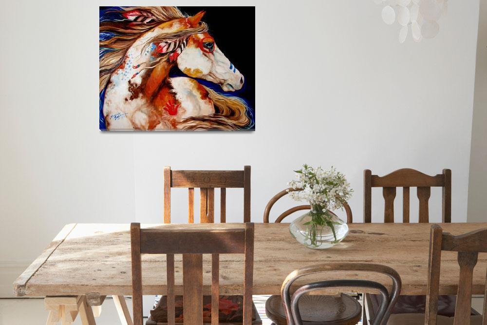 """INDIAN WAR HORSE""  (2011) by MBaldwinFineArt2006"