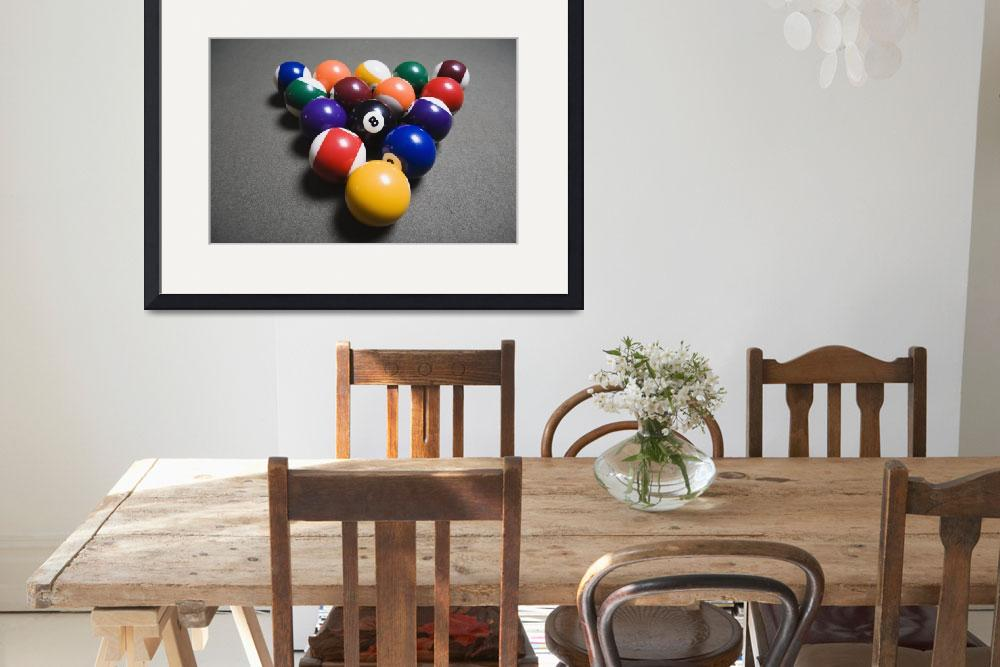 """""""Pool Balls On A Billiard Table With The Eight Ball&quot  by DesignPics"""