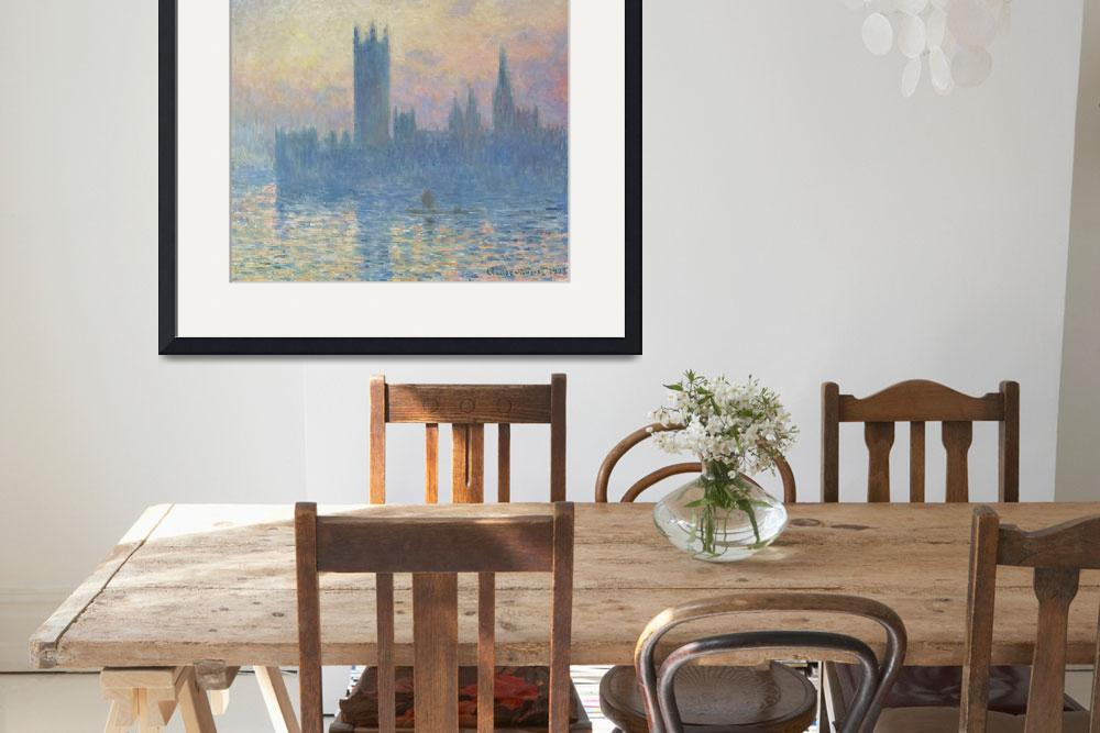 """The Houses of Parliament, Sunset by Claude Monet&quot  by FineArtClassics"