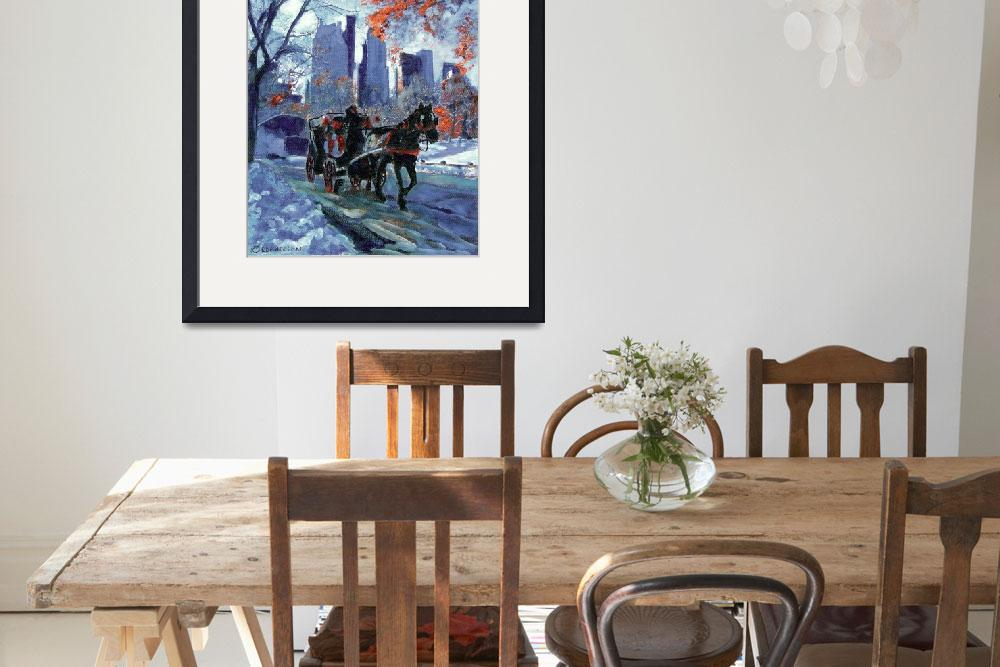"""""""First Snow in Central Park - New York City Art by&quot  (2004) by RDRiccoboni"""