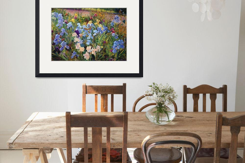 """""""The Iris Bed by Timothy Easton&quot  by fineartmasters"""