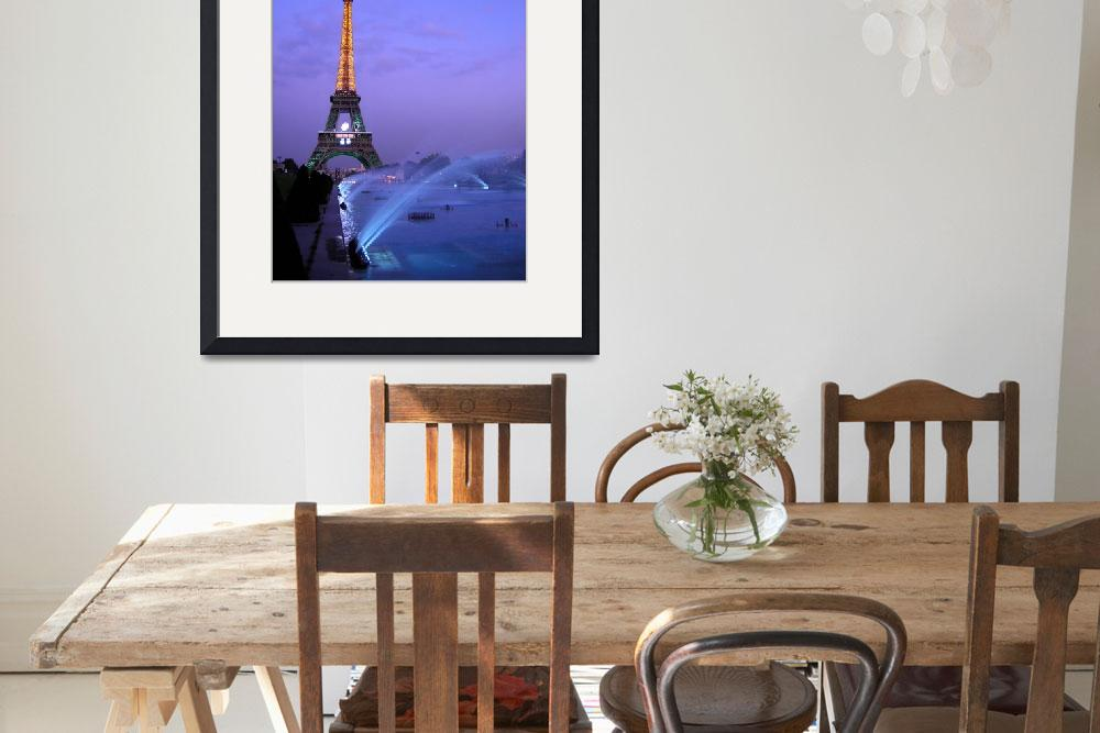 """Eiffel Tower at Dusk""  (2007) by PaulWhyte"