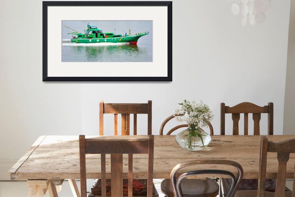 """""""Modern Japanese Fishing Boat&quot  (2012) by JoaoPonces"""