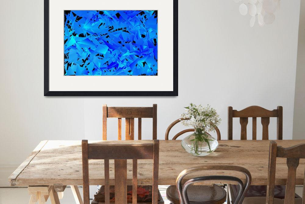 """Cool Blue&quot  (2014) by Tronagallery"