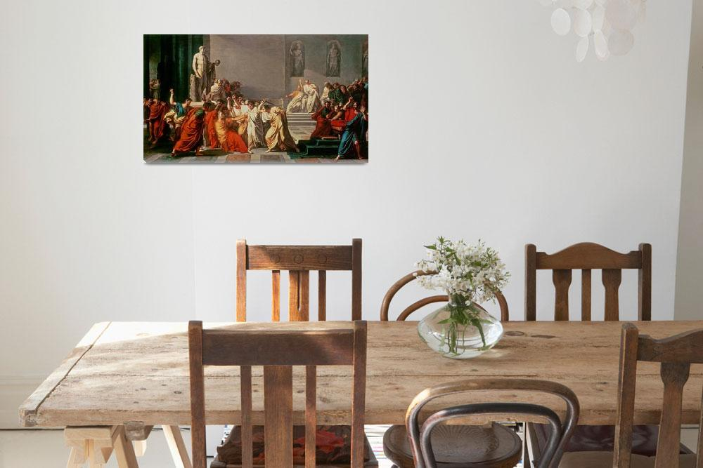 """""""Death of Julius Caesar (100-44 BC) (oil on canvas)&quot  by fineartmasters"""