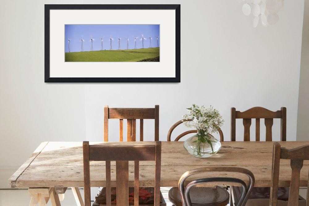 """""""""""Wind turbines on a hill, Altamont Pass, Livermore&quot  by Panoramic_Images"""