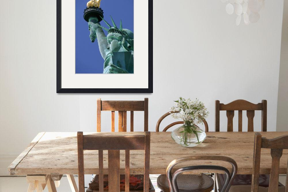 """Close-Up Of Statue Of Liberty, Manhattan, New York&quot  by DesignPics"