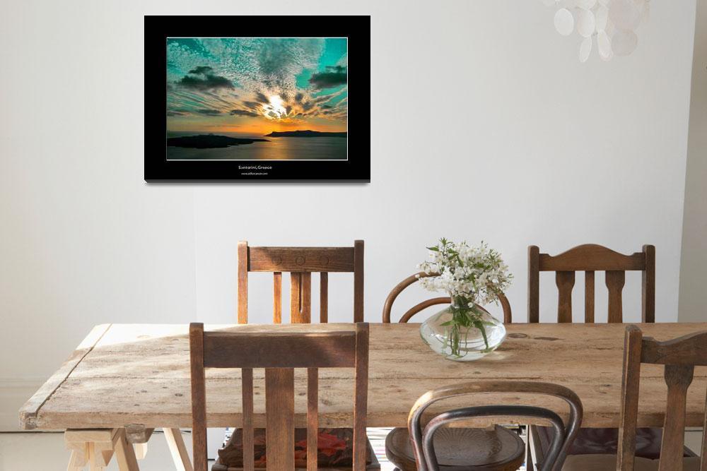"""Santorini Sunset 092109-715&quot  (2009) by artforcancer"