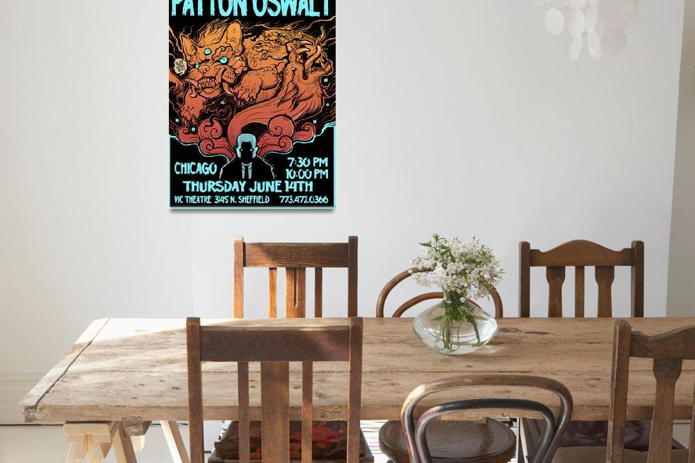 """""""Patton at the Vic show poster""""  (2012) by missmonstermel"""
