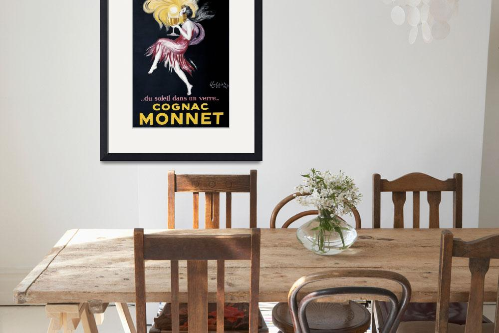 """""""Vintage Advertising Poster - Cognac Monnet&quot  by artlicensing"""