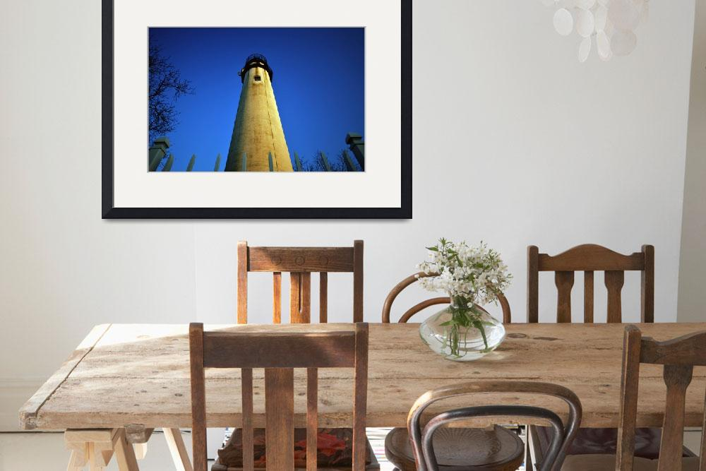"""""""fenwick-lighthouse-early-morning-sun-a&quot  by travel"""