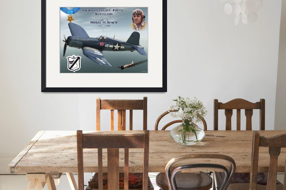 """Medal of Honor Pappy Boyington&quot  (2015) by milmerchant"