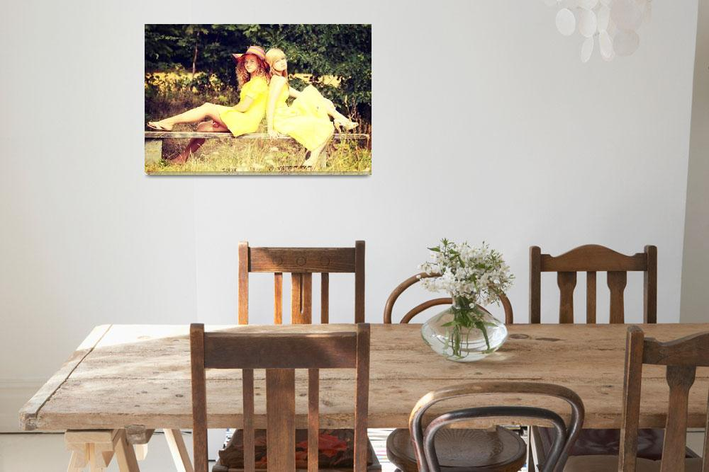 """""""2 teen woman relaxing on sunny summer vacation day&quot  by Piotr_Marcinski"""
