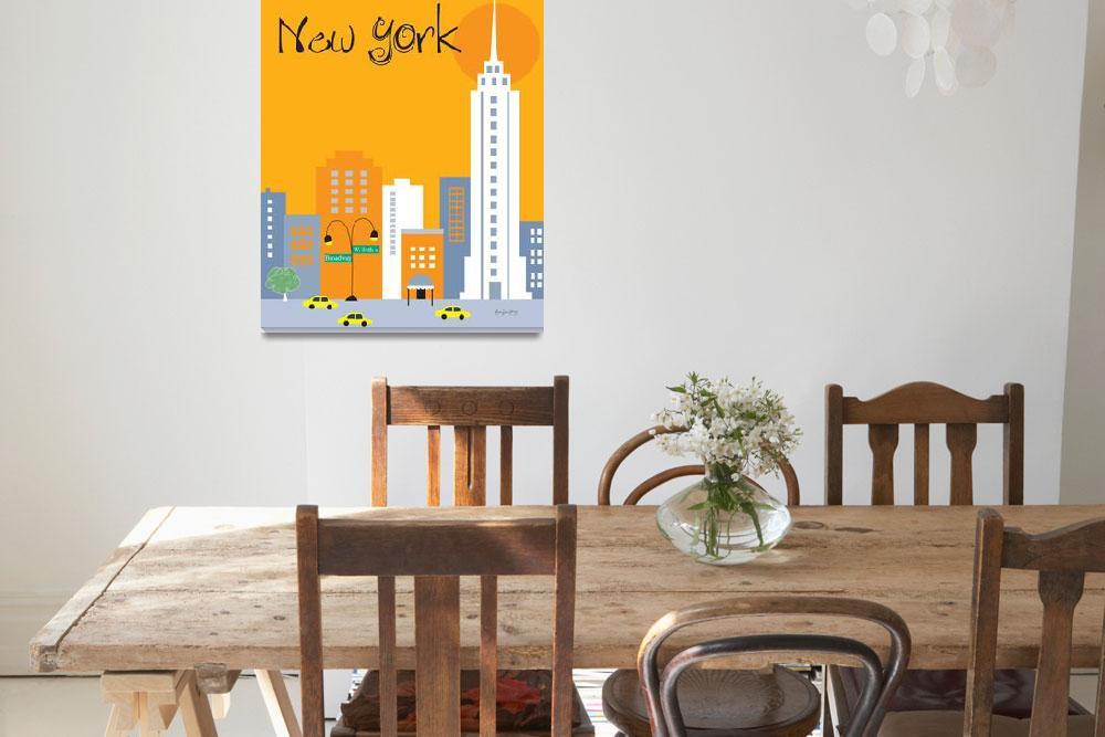 """New York City, New York - Orange&quot  (2011) by loosepetals"