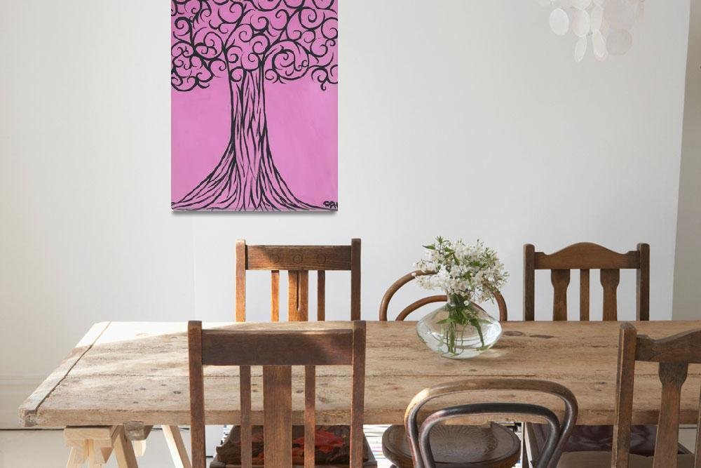 """""""Pink is the new black, sophisticated tree""""  (2011) by PinkiDee"""