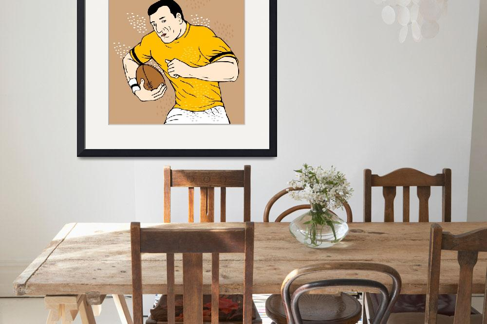 """""""rugby player running with the ball&quot  (2013) by patrimonio"""