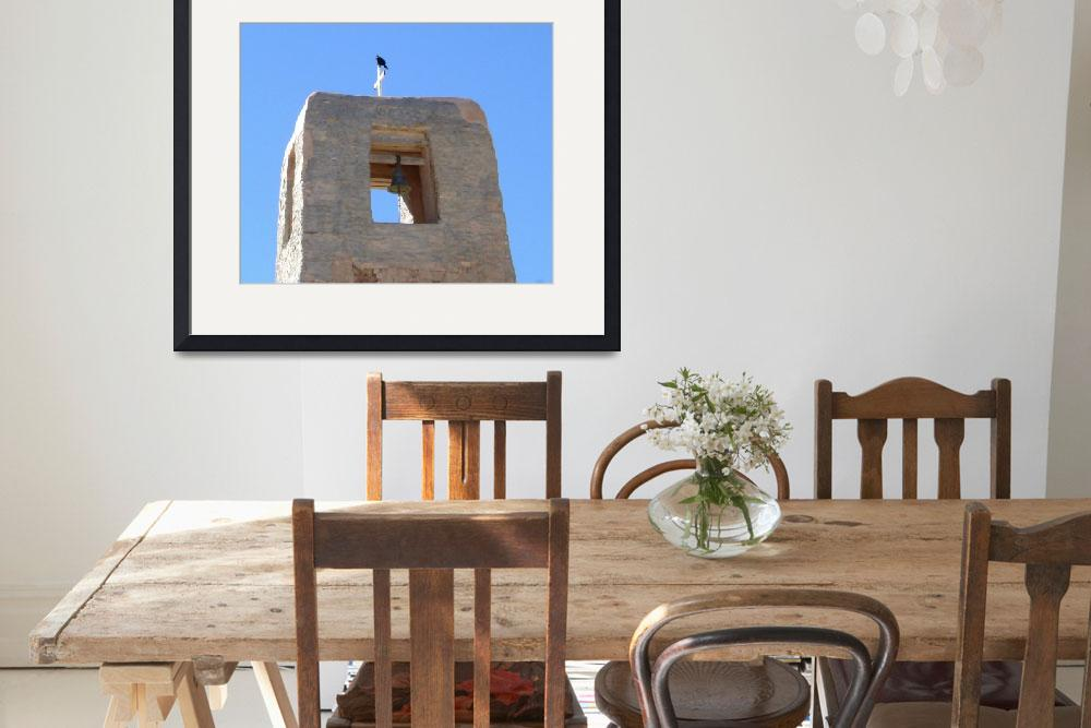 """""""Old Adobe Bell Tower&quot  (2015) by snapdragon"""