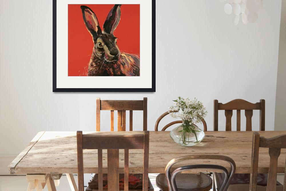 """""""Hare Red&quot  (2016) by BrettHudsonArt"""