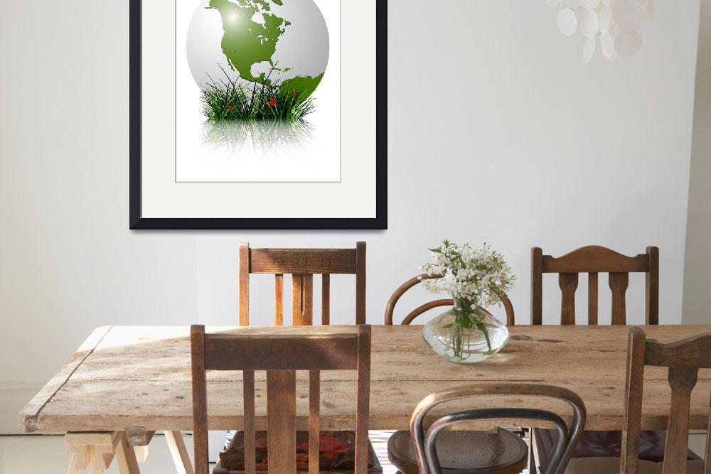 """""""earth globe and grass reflected&quot  by robertosch"""