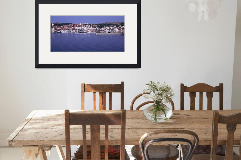 """""""Swedish Westcoast village w/ marina in the center&quot  by Panoramic_Images"""