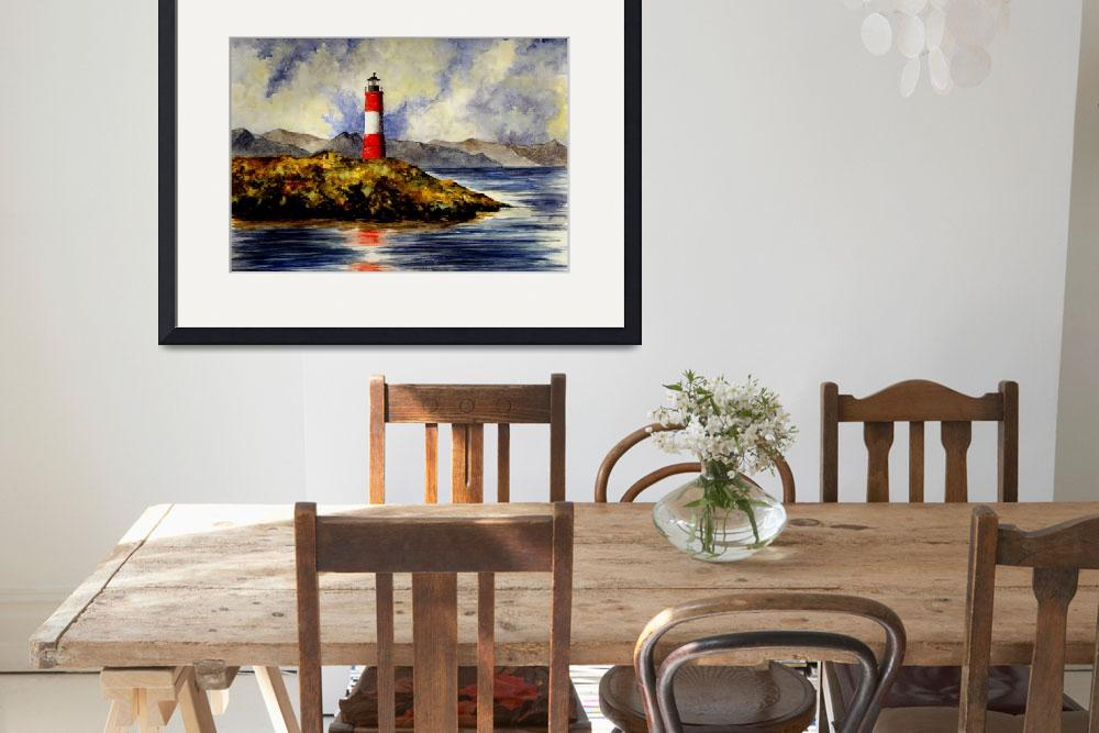 """""""Les Eclaireurs Lighthouse (Ushuaia Argentina)&quot  (2007) by vigliotti"""