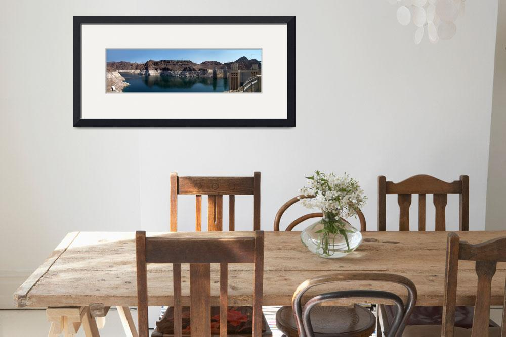 """""""Hoover Dam And Lake Mead 2008 Panorama""""  (2008) by DSchellack"""