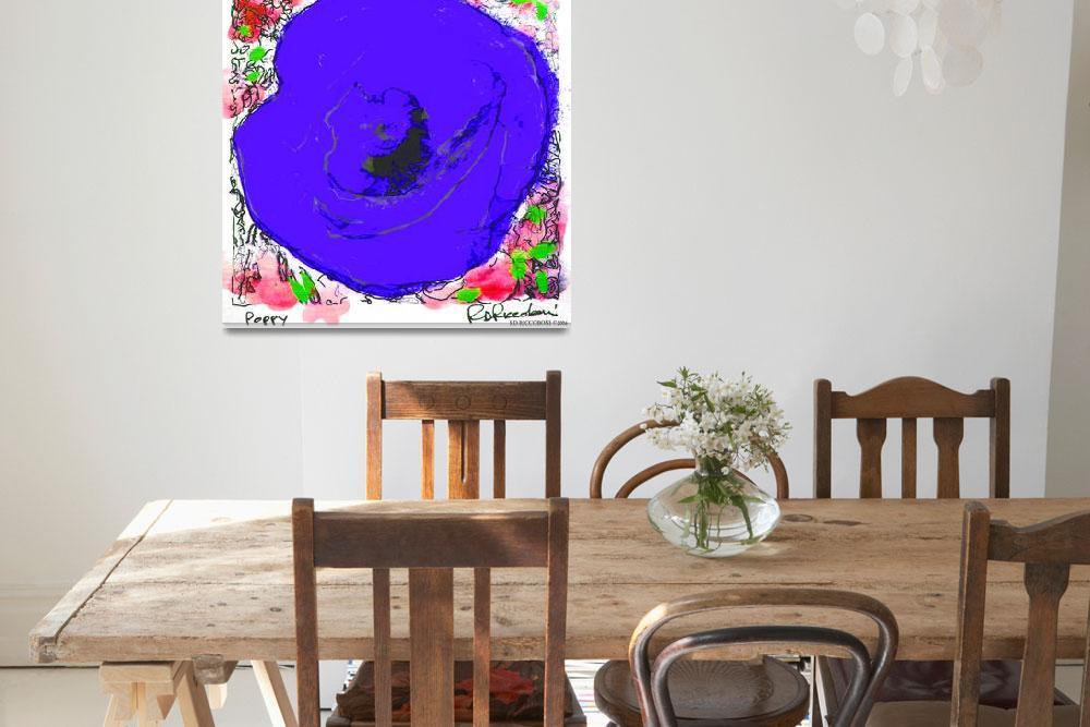 """""""Blue Poppy Flower""""  by RDRiccoboni"""