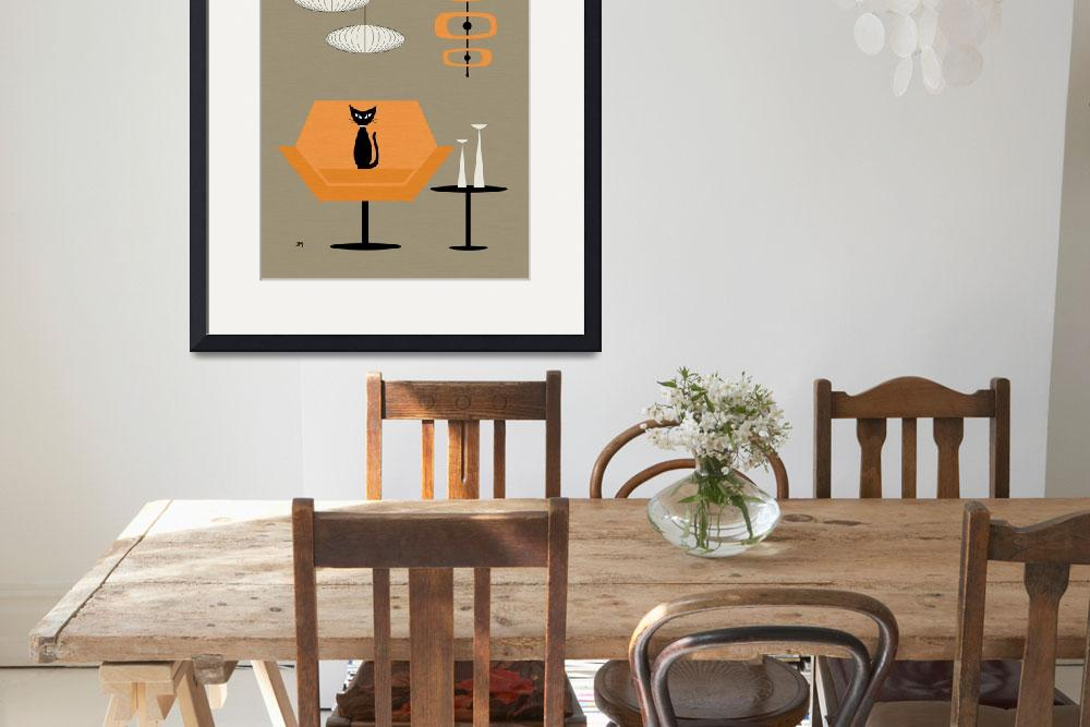 """""""Mod Chair in Orange""""  (2014) by DMibus"""