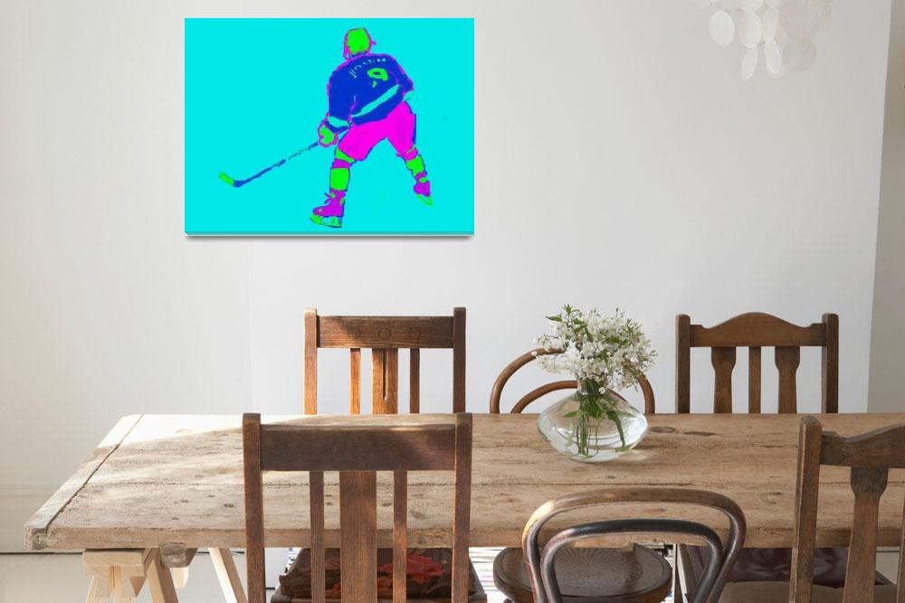 """Hockey Center aqua blue purple green (c)""  (2014) by edmarion"