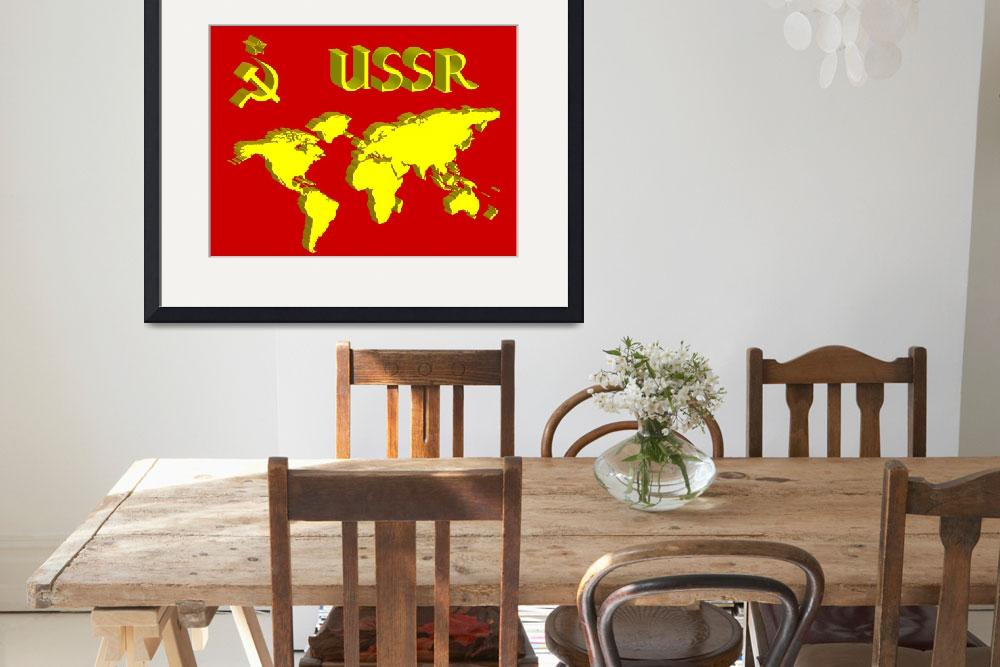 """""""ussr symbol and world map&quot  by robertosch"""