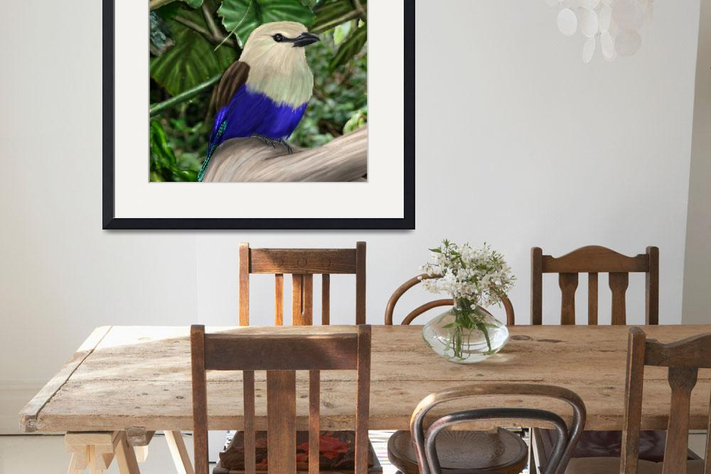"""""""Blue Bellied Roller&quot  (2010) by Aiwenore"""