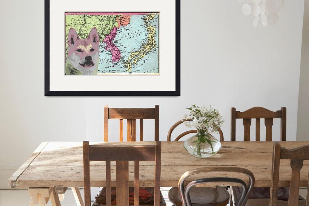 """""""Territory Map Shiba""""  (2011) by DogHistory"""