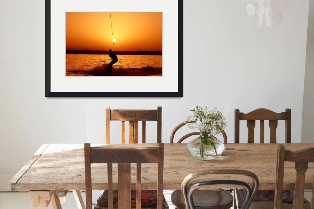 """""""Wakeboarder at Sunset&quot  (2007) by JessicaShellPhotography"""