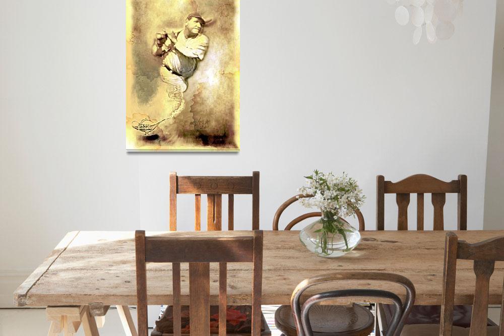 """Babe Ruth, Sultan of Swat, New York Yankees Art""  (2011) by artofvela"