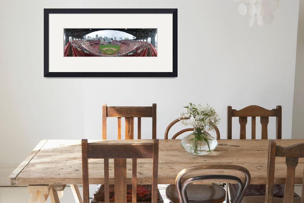 """Busch Stadium Panorama - St. Louis Cardinals&quot  by augiespanoramas"