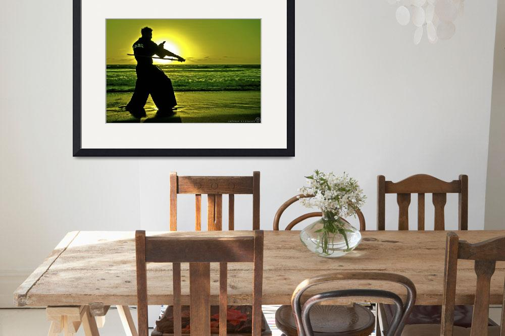 """""""Martial Arts Man Silhouette Katana Fighter Stance&quot  (2015) by NovazziPhotoArt"""