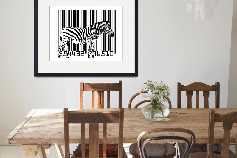 """Zebra Barcode&quot  (2009) by ModernArtPrints"