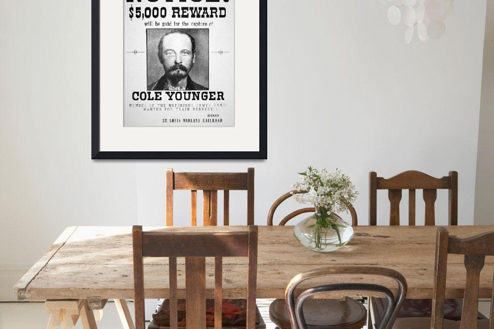 """""""Vintage Reward Poster -- Thomas Cole Younger&quot  by fineartmasters"""