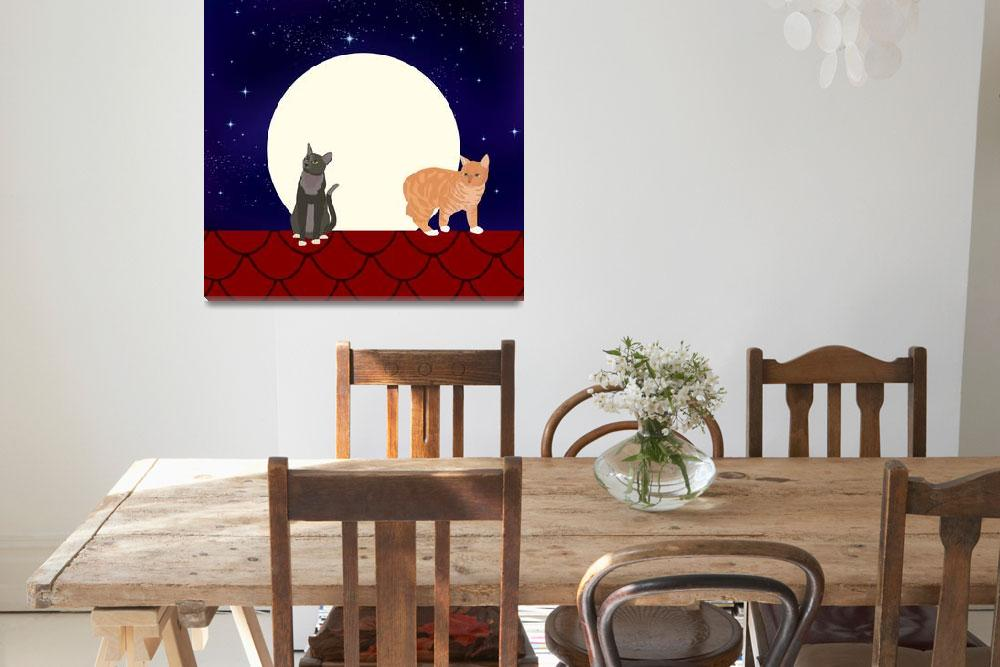 """""""Cats on a full moon night""""  by Design4uStudio"""