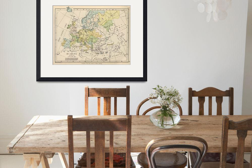 """""""Vintage Map of Europe (1905)&quot  by Alleycatshirts"""