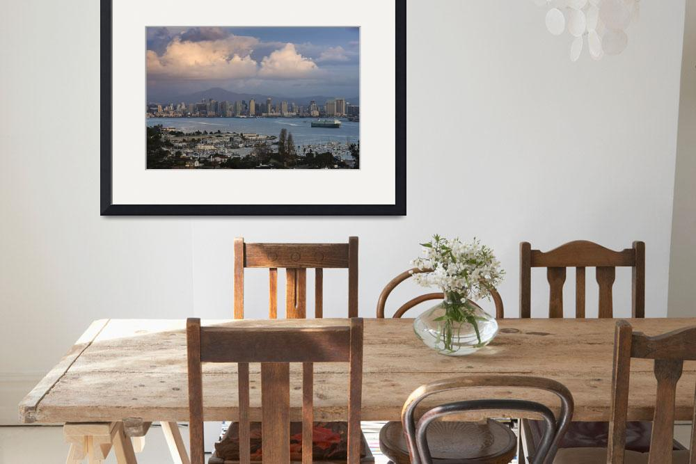 """Harbor and city viewed from Point Loma&quot  by Panoramic_Images"