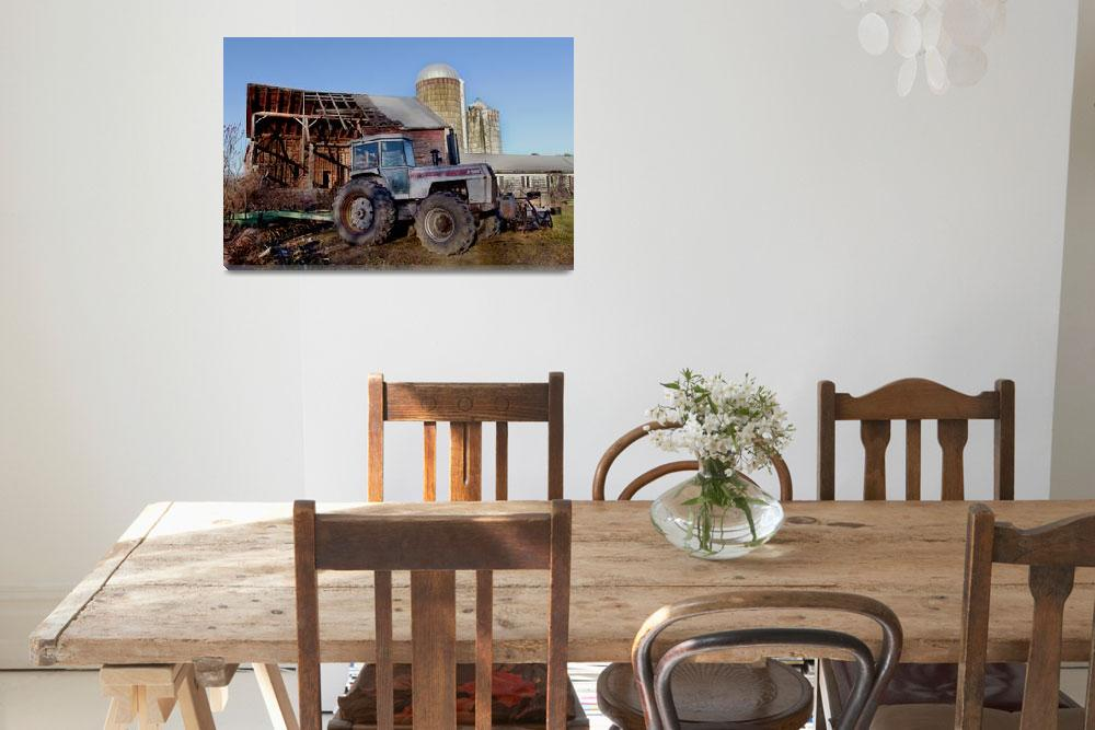 """808 White Farm Equipment Tractor 2-135&quot  by MatthewLermanPhotography"