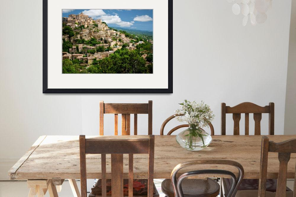"""Gordes Hill Town (Provence)&quot  (2007) by Inge-Johnsson"