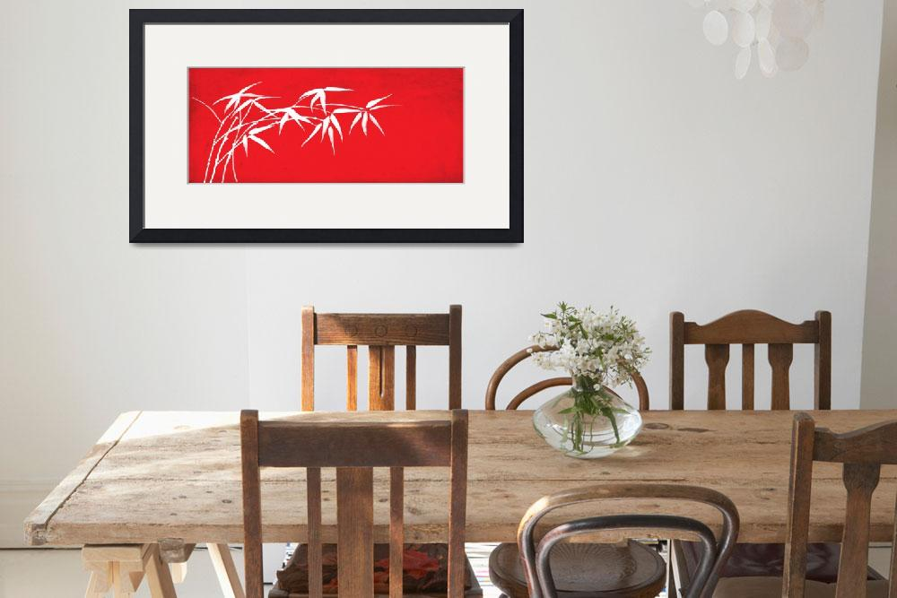"""""""Red bamboo&quot  (2011) by nomi"""