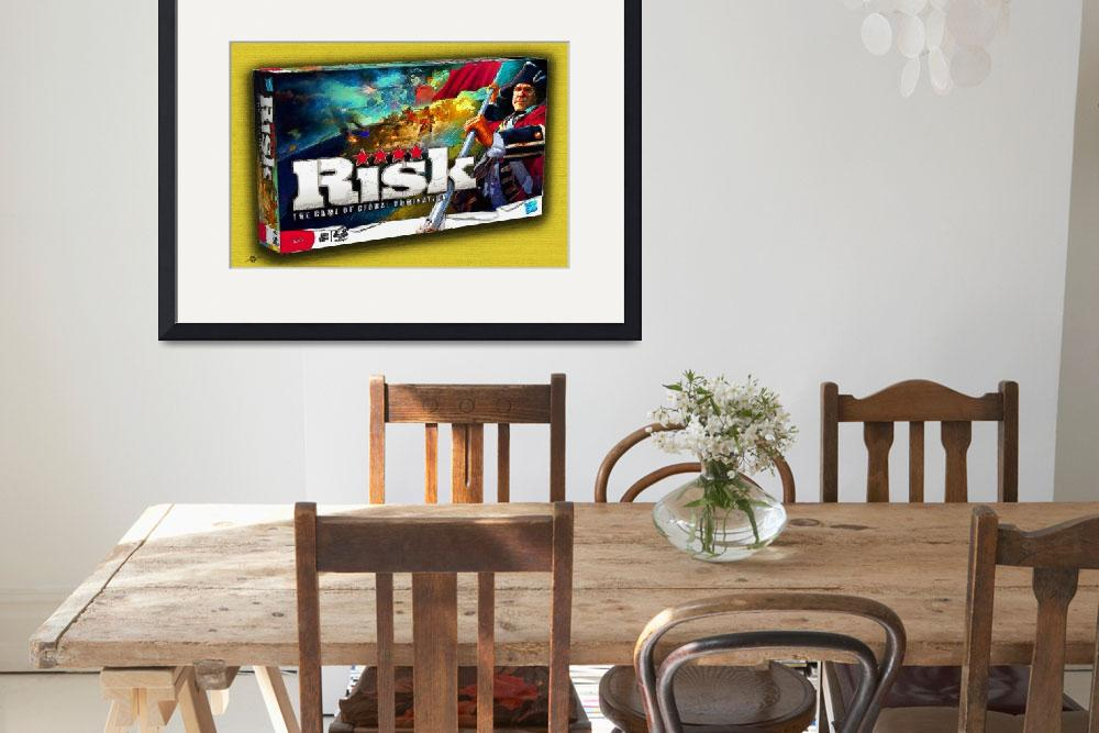 """""""Risk Board Game Painting&quot  by RubinoFineArt"""