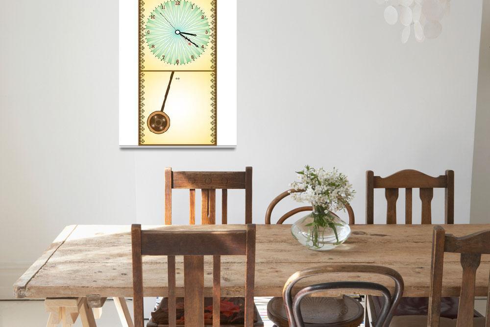 """""""wooden pendule clock&quot  by robertosch"""