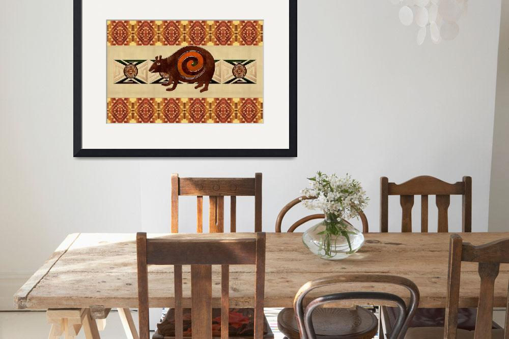 """Native American 3D Folk Art Bear Motif&quot  (2012) by ReneeLozenGraphics"